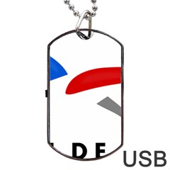 Logo of The French Air Force  Dog Tag USB Flash (One Side) by abbeyz71