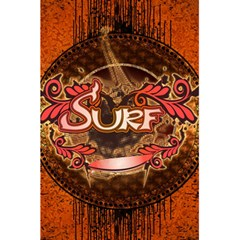Surfing, Surfboard With Floral Elements  And Grunge In Red, Black Colors 5 5  X 8 5  Notebooks by FantasyWorld7