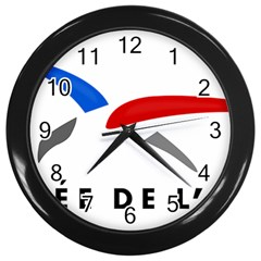 Logo Of The French Air Force (armee De L air) Wall Clocks (black) by abbeyz71