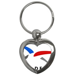 Logo Of The French Air Force (armee De L air) Key Chains (heart)  by abbeyz71