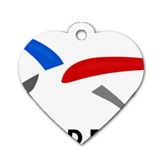 Logo Of The French Air Force (armee De L air) Dog Tag Heart (one Side) by abbeyz71