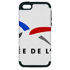 Logo Of The French Air Force (armee De L air) Apple Iphone 5 Hardshell Case (pc+silicone)
