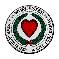 Seal Of Worcester, Massachusetts Ornament (round)  by abbeyz71