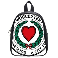 Seal Of Worcester, Massachusetts School Bags (small)  by abbeyz71