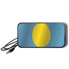 Flag of Palau Portable Speaker (Black)  by artpics