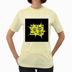 Yellow Abstraction Women s Yellow T Shirt by Valentinaart