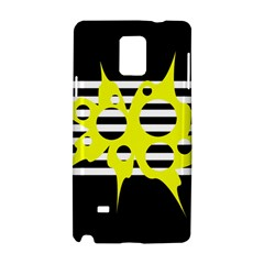 Yellow Abstraction Samsung Galaxy Note 4 Hardshell Case by Valentinaart