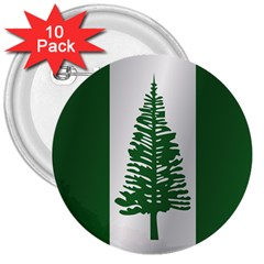 Flag Of Norfolk Island 3  Buttons (10 pack)  by artpics