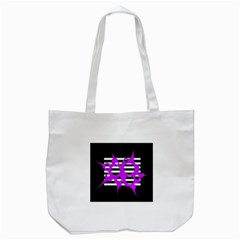 Purple Abstraction Tote Bag (white) by Valentinaart