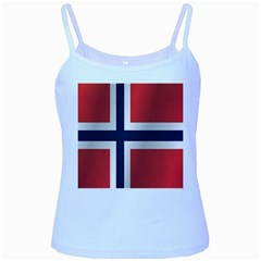 Flag Of Norway Baby Blue Spaghetti Tank by artpics