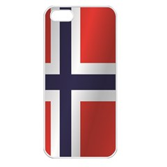 Flag Of Norway Apple iPhone 5 Seamless Case (White)