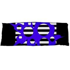 Blue Abstract Design Body Pillow Case (dakimakura) by Valentinaart