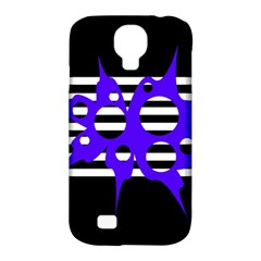 Blue Abstract Design Samsung Galaxy S4 Classic Hardshell Case (pc+silicone) by Valentinaart