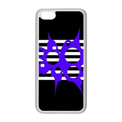 Blue Abstract Design Apple Iphone 5c Seamless Case (white) by Valentinaart