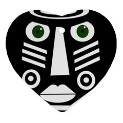 Mask Heart Ornament (2 Sides) by Valentinaart
