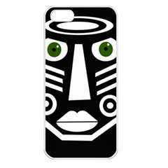 Mask Apple iPhone 5 Seamless Case (White)