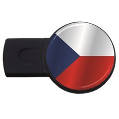 Flag Of Czech Republic USB Flash Drive Round (4 GB)  by artpics
