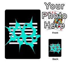 Cyan abstract design Multi-purpose Cards (Rectangle)