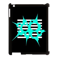 Cyan Abstract Design Apple Ipad 3/4 Case (black) by Valentinaart