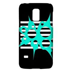 Cyan Abstract Design Galaxy S5 Mini by Valentinaart