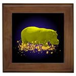 Hippo-Sparkle Framed Tile