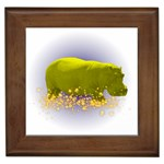 Hippo Sparkle Framed Tile