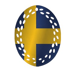 Flag Of Sweden Oval Filigree Ornament (2-Side)  by artpics