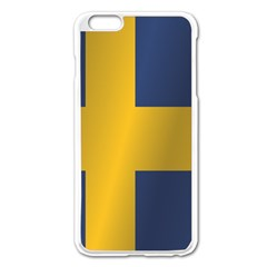 Flag Of Sweden Apple iPhone 6 Plus/6S Plus Enamel White Case by artpics
