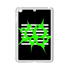 Green Abstract Design Ipad Mini 2 Enamel Coated Cases by Valentinaart