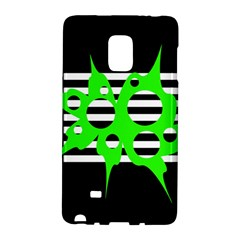 Green Abstract Design Galaxy Note Edge by Valentinaart
