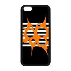 Orange Abstract Design Apple Iphone 5c Seamless Case (black) by Valentinaart