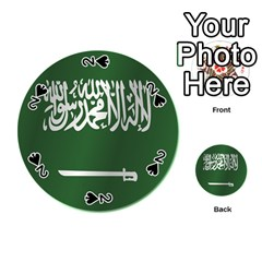 Flag Of Saudi Arabia Playing Cards 54 (Round)  by artpics