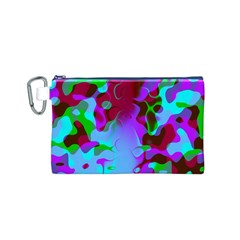 Abstract Colorsplash Retro Canvas Cosmetic Bag (small) by tjustleft