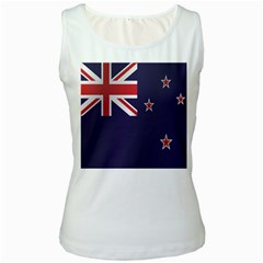 Flag Of New Zealand Women s White Tank Top by artpics
