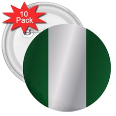 Flag Of Nigeria 3  Buttons (10 pack)  by artpics