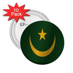 Flag Of Mauritania 2.25  Buttons (10 pack)  by artpics