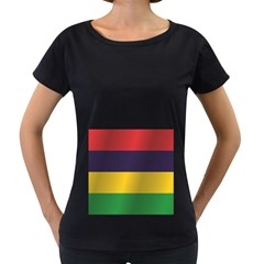 Flag Of Mauritius Women s Loose-Fit T-Shirt (Black) by artpics