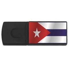 Flag Of Cuba USB Flash Drive Rectangular (1 GB)  by artpics