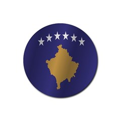 Flag Of Kosovo Rubber Coaster (Round)  by artpics