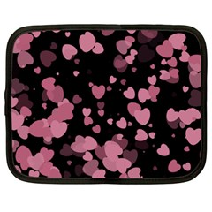 Pink Love Netbook Case (XXL)  by TRENDYcouture