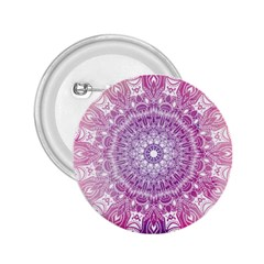 Pink Watercolour Mandala 2 25  Buttons by TanyaDraws
