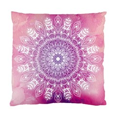 Pink Watercolour Mandala Standard Cushion Case (two Sides) by TanyaDraws