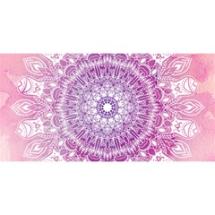 Pink Watercolour Mandala You Are Invited 3d Greeting Card (8x4) by TanyaDraws