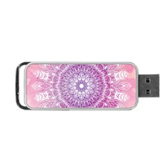 Pink Watercolour Mandala Portable Usb Flash (one Side) by TanyaDraws