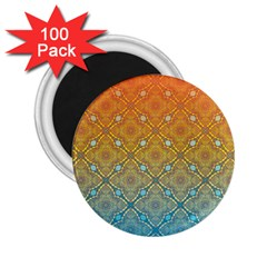 Ombre Fire And Water Pattern 2 25  Magnets (100 Pack)  by TanyaDraws