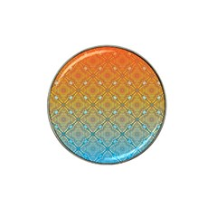 Ombre Fire And Water Pattern Hat Clip Ball Marker (4 Pack) by TanyaDraws