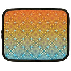 Ombre Fire And Water Pattern Netbook Case (xl)  by TanyaDraws