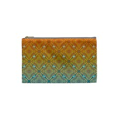Ombre Fire And Water Pattern Cosmetic Bag (small)  by TanyaDraws
