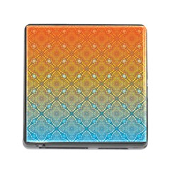 Ombre Fire And Water Pattern Memory Card Reader (square) by TanyaDraws