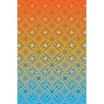 Ombre Fire and Water Pattern 5.5  x 8.5  Notebooks Front Cover Inside